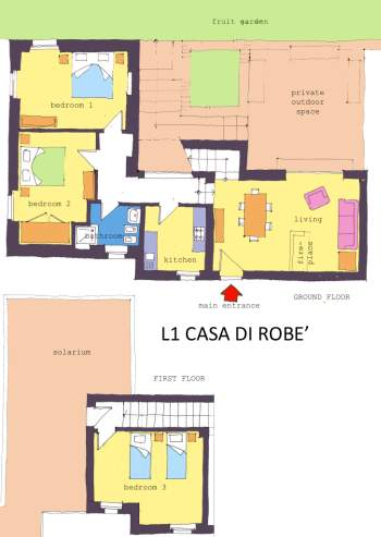 apartment house of Robè map