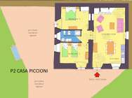 apartment house Piccioni map